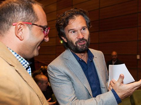 Carlo Cracco premia Gianfranco Daino